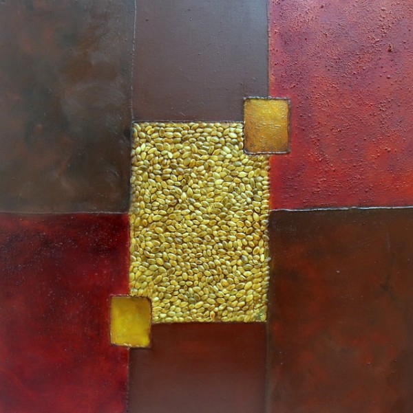 Harvest - 60 x 60 cms mixed media on canvas