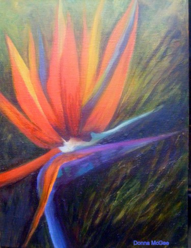 "Bird of Paradise 16 x 12"" Oil on block canvas © www.donnamcgee.ie"