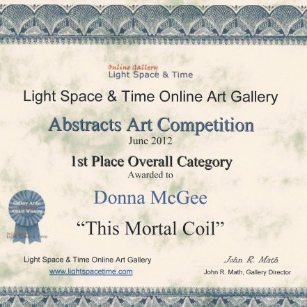 Art Awards - LST Abstract 1st Place Overall Category - Donna McGee