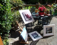 Oil painting, drying, varnishing and multi-tasking Donna McGee