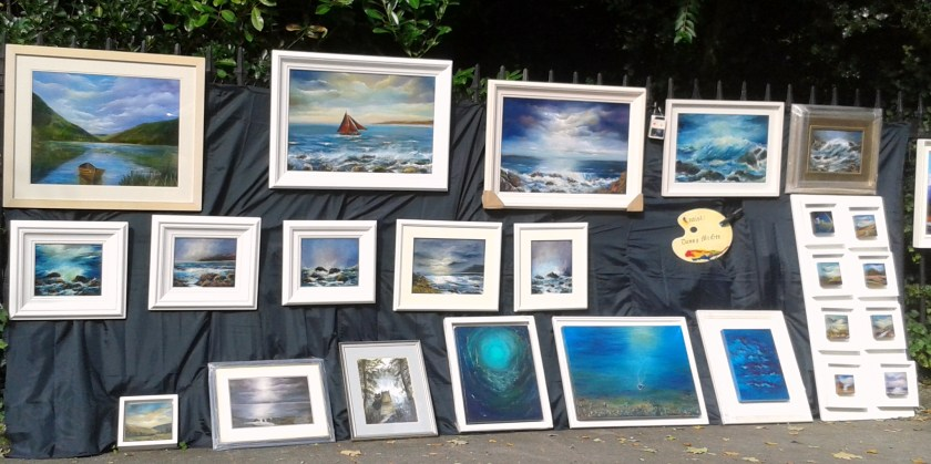 Outdoor Exhibition of paintings by Donna McGee at The Peoples Art, Dublin