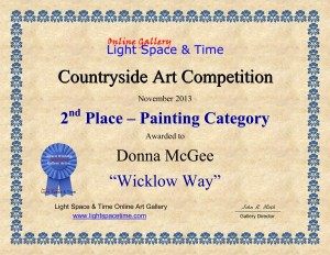 LST Painting Award, Wicklow Way, Donna McGee