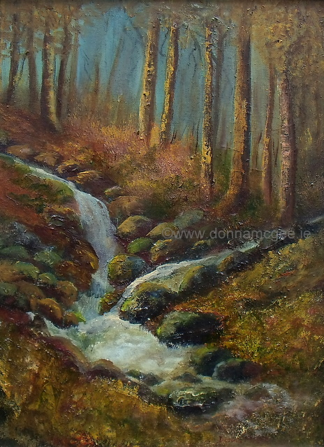 iRISH LANDSCAPSE ART Cruagh Wood 16 x12 Oil on canvas