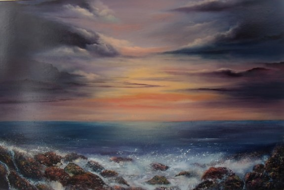 Archives - select past works, East Coast Sunset 20x30 Oil on canvas