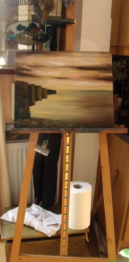 Work in Progress - Cliffs of Moher - Preparing for Solo art exhibition Shades of Diversity