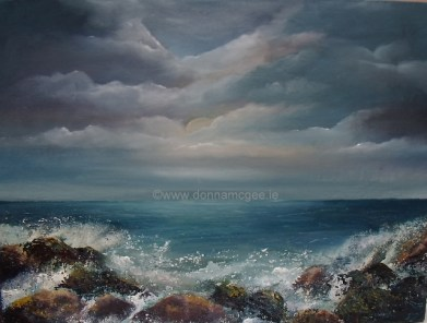 "The Wild Atlantic Way Seascape 16 x 12"" Oil on block canvas"