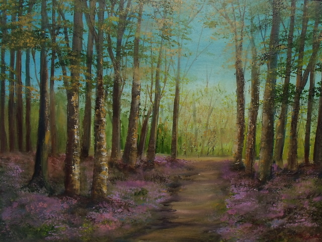 "Archives - select past works, Hidden Trail 16x12"" Donna McGee"