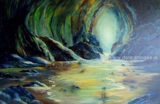 "Safe Haven Seascape - Oil on Canvas 20 x 30"""