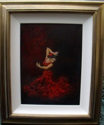 Spanish Flemenco Dancer Oil painting