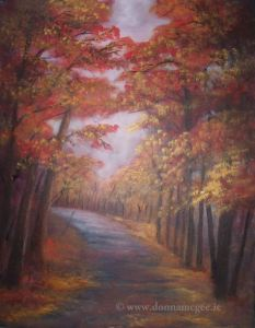 Autumn Walk 14 x 16 inches - Acrylic on Canvas - Peoples Art December 2015