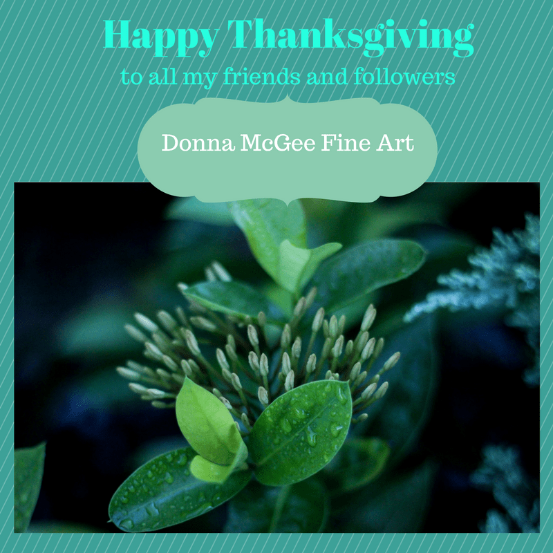 Happy Thanksgiving from Donna McGee Fine Art