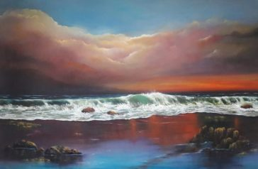 Majesty of the Sea 100 x 150 cms - Oil on Block Canvas