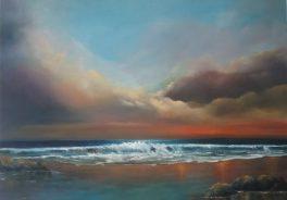 Suaimhneas (Irish for Peace) 30 x 40 inches - Oil on block canvas