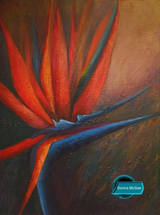 iRISH LANDSCAPSE ART Bird of Paradise 16x12 inches - Oil on block canvas