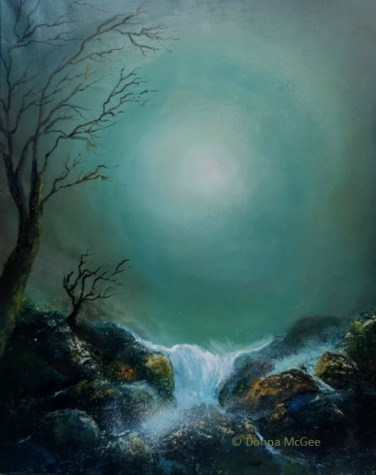 Moonlight Glow 20 x 16 inches - Oil on Block Canvas