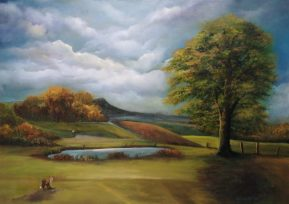 Anyone for Golf? 50x70 cms Oil on Canvas - Powerscourt Golf Club Enniskerry