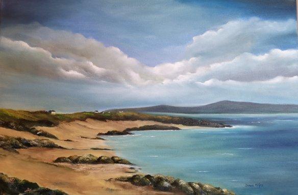 Gurteen Bay, Connemara - Wild Atlantic Way 20x30 inches - Oil on Canvas