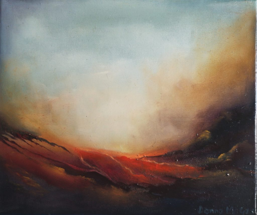 Transcendence 10 x 12 inches OIl on Canvas - Contemporary Abstract Art