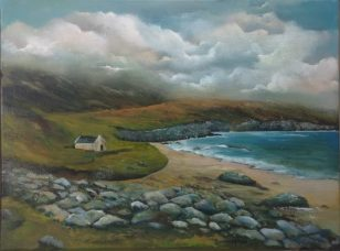 iRISH LANDSCAPSE ART Keem Bay, Achill Island
