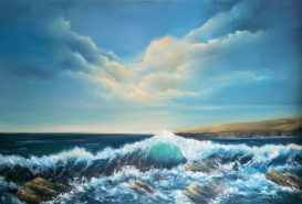 Slea Head Drive 60x90cms Oil on Block Canvas _ Donna McGee