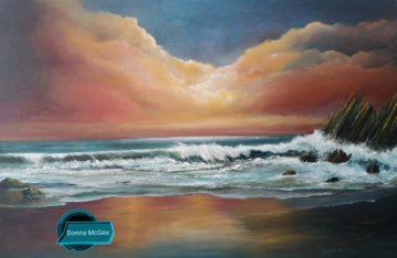 Coumeenole Beach, Slea Head, Dingle Peninsula Oil painting Donna McGee