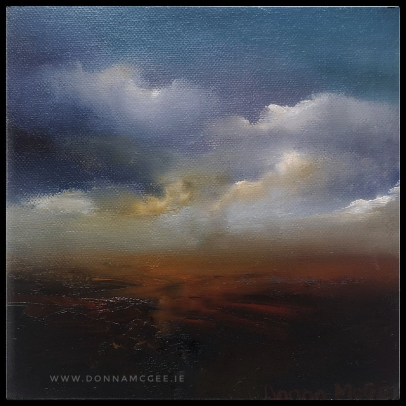 Transcendence Series 5 Abstract oil painting of an Irish landscape 8
