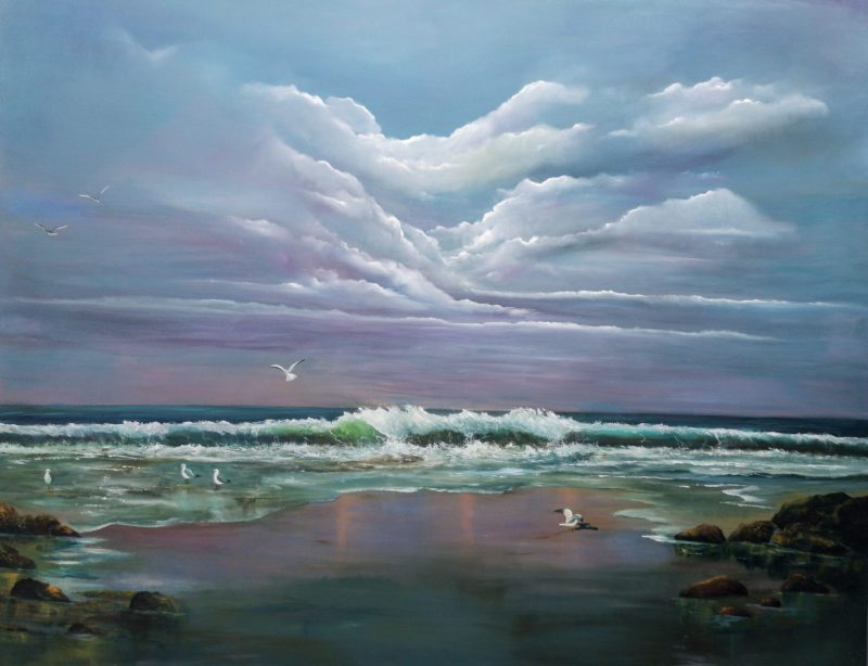 Atlantic Call original oil painting large statement piece 150 x 120 cms