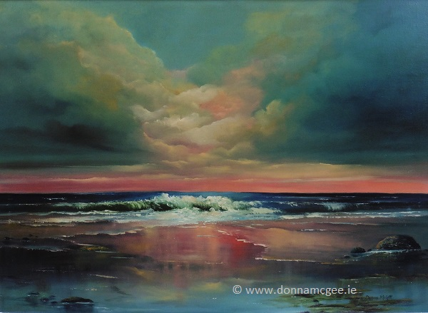 Breaking-Dawn-Oil-on-Canvas-50-x-70-cms-Donna-McGee