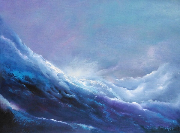 Celestial Rush oil painting of water flowing