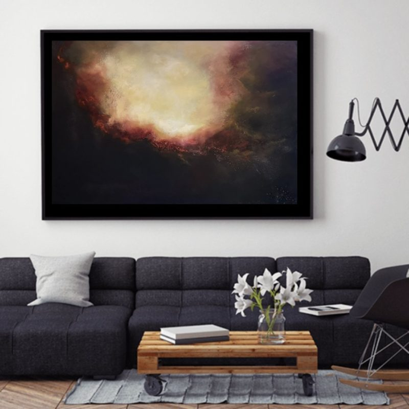 Glowing Light  Abstract oil painting 20x30 inches