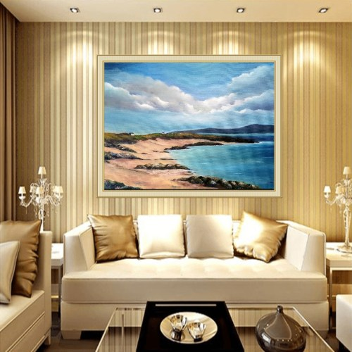 Gurteen Bay oil painting in room setting