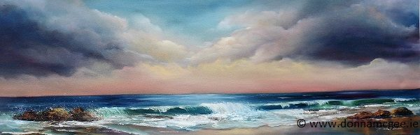 Sea-to-Shore-Oil-on-Block-Canvas-36-x-12-inches-Available in limited edition Giclee Print