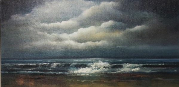 eternal calm 10 x 20 inches oil on board - irish seascape painting