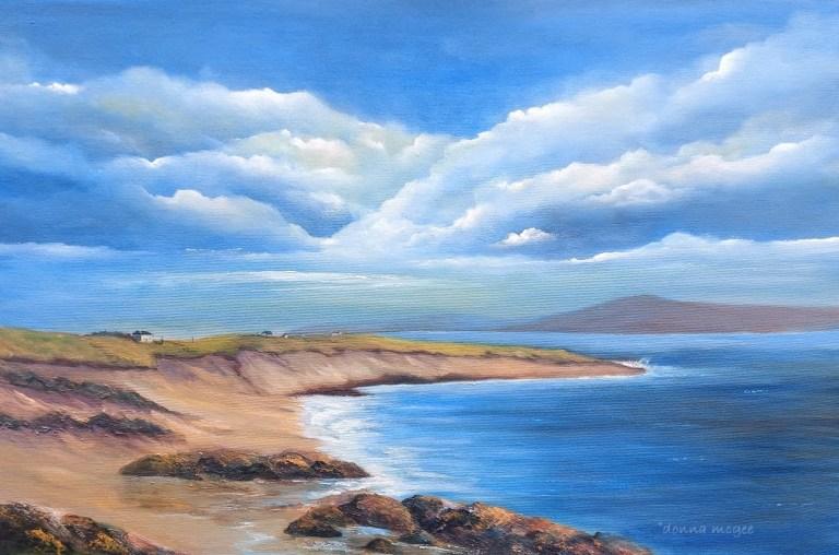Gurteen Bay Galway oil painting