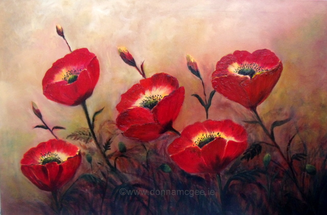 poppies standing to attention