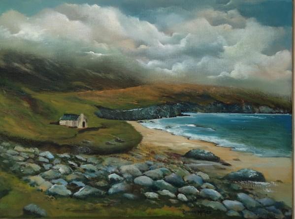Keem Bay Achill oil painting 16 x 12 inches oil - irish landscape