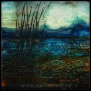 rustic weeds encaustic wax irish landscape painting