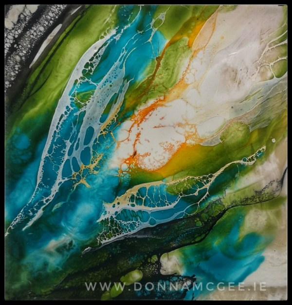 twisted seaweed encaustic wax irish landscape painting