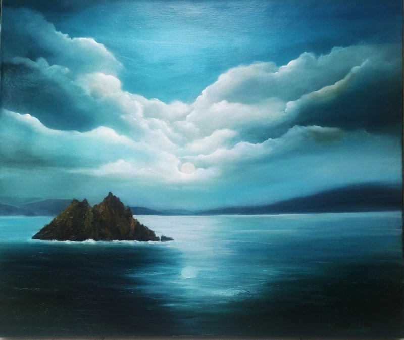 Dusk at Skellig Michael Oil Painting