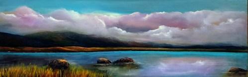 twelve bens 24 x 8 inches oil on canvas