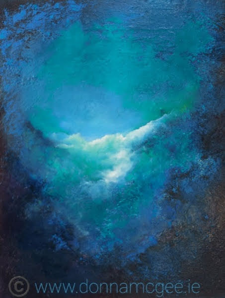 natures blue abstact oil painting