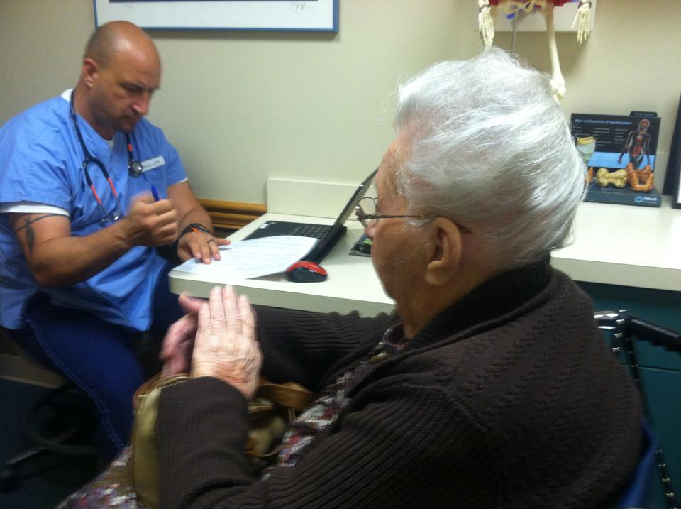 Just one of the duties of a caregiver is to get your parent to the doctor.