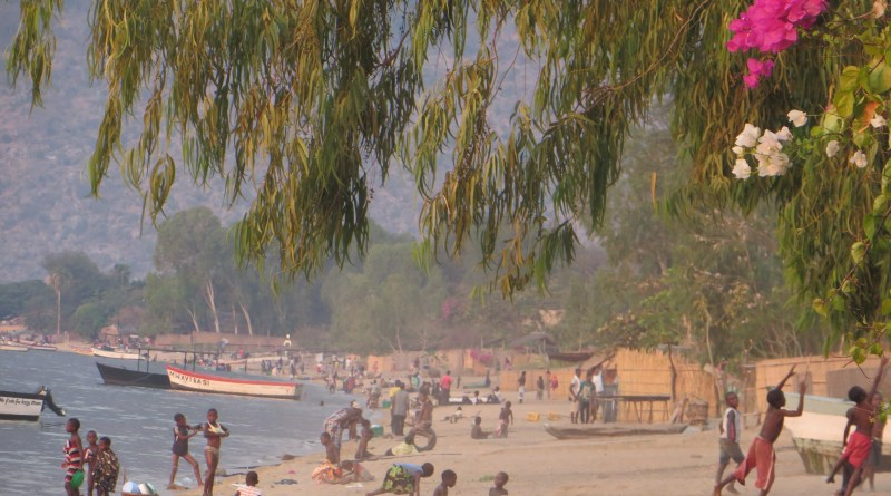 The beach at Cape Mclear, Malawi.