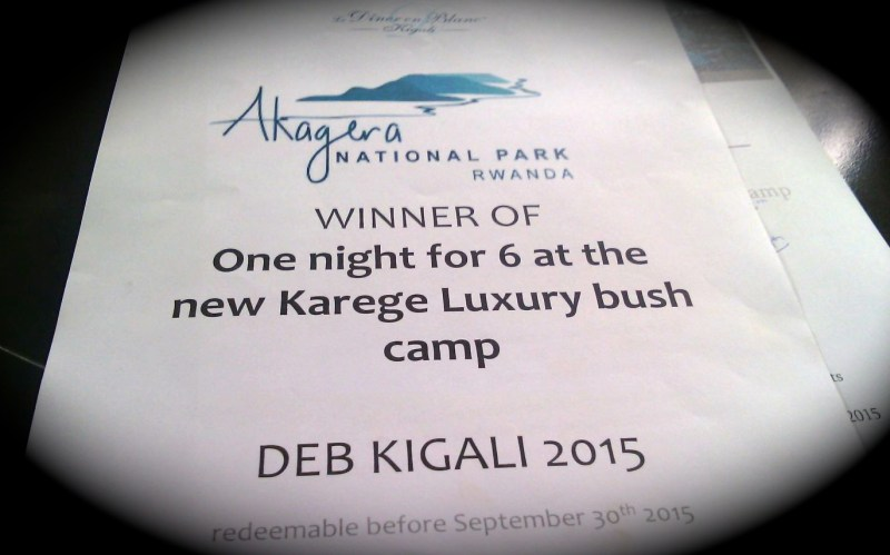 Our prize for having the best table at Diner en Blanc Kigali 2015
