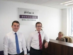Picture of Daniel Fitzsimmons, Kevin Donoghue, and Hannah Bickley, of Donoghue Solicitors.