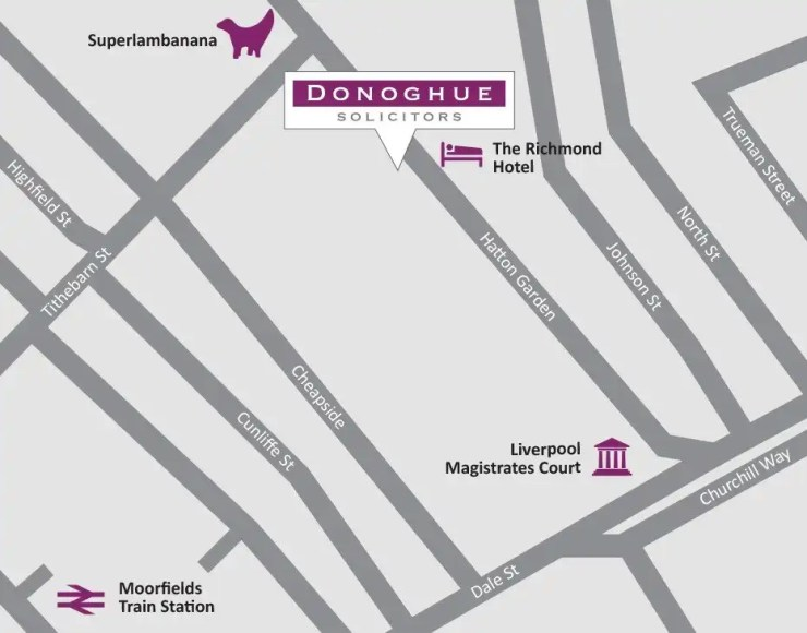 Donoghue Solicitors 25 Hatton Garden Liverpool Map