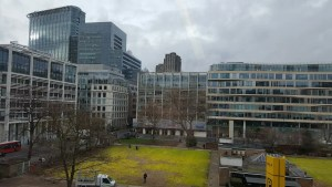 Photo of the view from 33 Finsbury Square, home to Donoghue Solicitors in London.