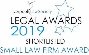 Liverpool Law Society Legal Awards 2019 logo.