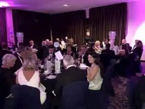 Photo of Donoghue Solicitors' tables at the Liverpool Law Society Awards.