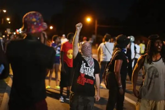 Photo of a Ferguson protest.